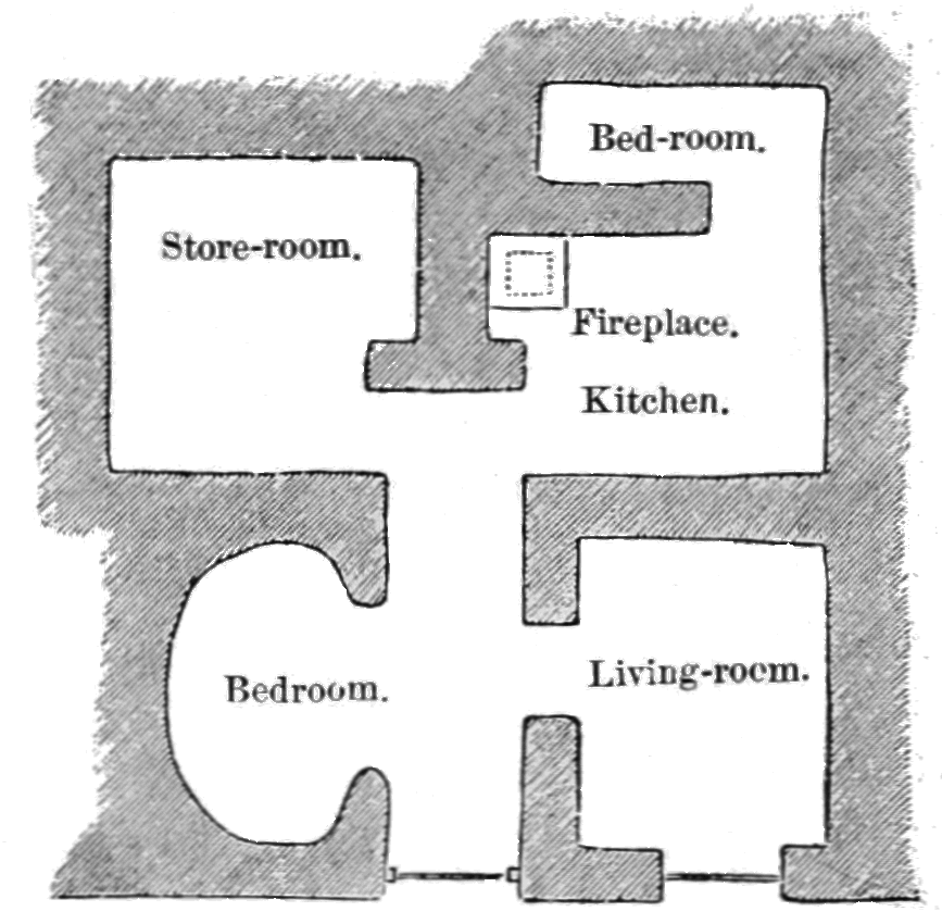 PSM V41 D050 Plan of a cave dwelling near langenstein.png