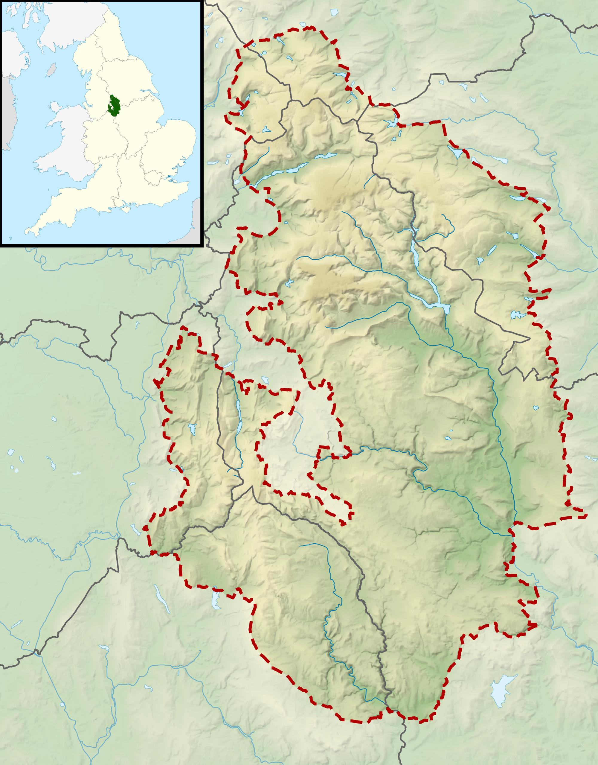 FilePeak District National Park UK Relief Location Mappng - National parks locations map