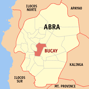 Mapa na Abra ya nanengneng so location na Bucay