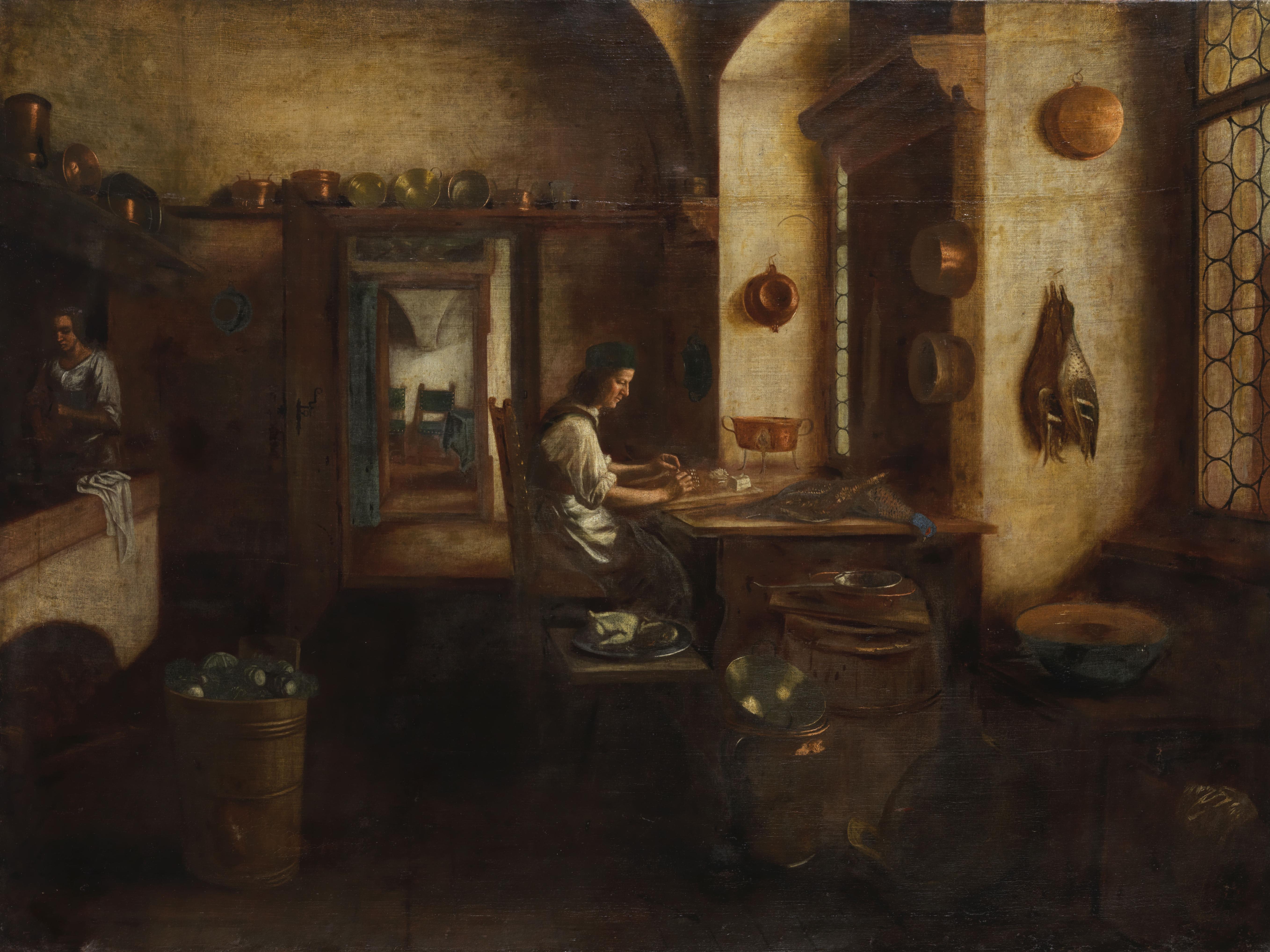 File:Pieter de Hooch (attr) Kücheninterieur.png - Wikimedia Commons