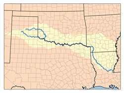 Image result for Red River in Arkansas map