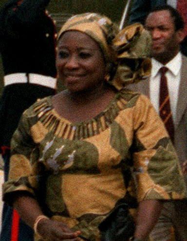 Mugabe's first wife, First Lady Sally Hayfron, in 1983 Sally Hayfron.jpg