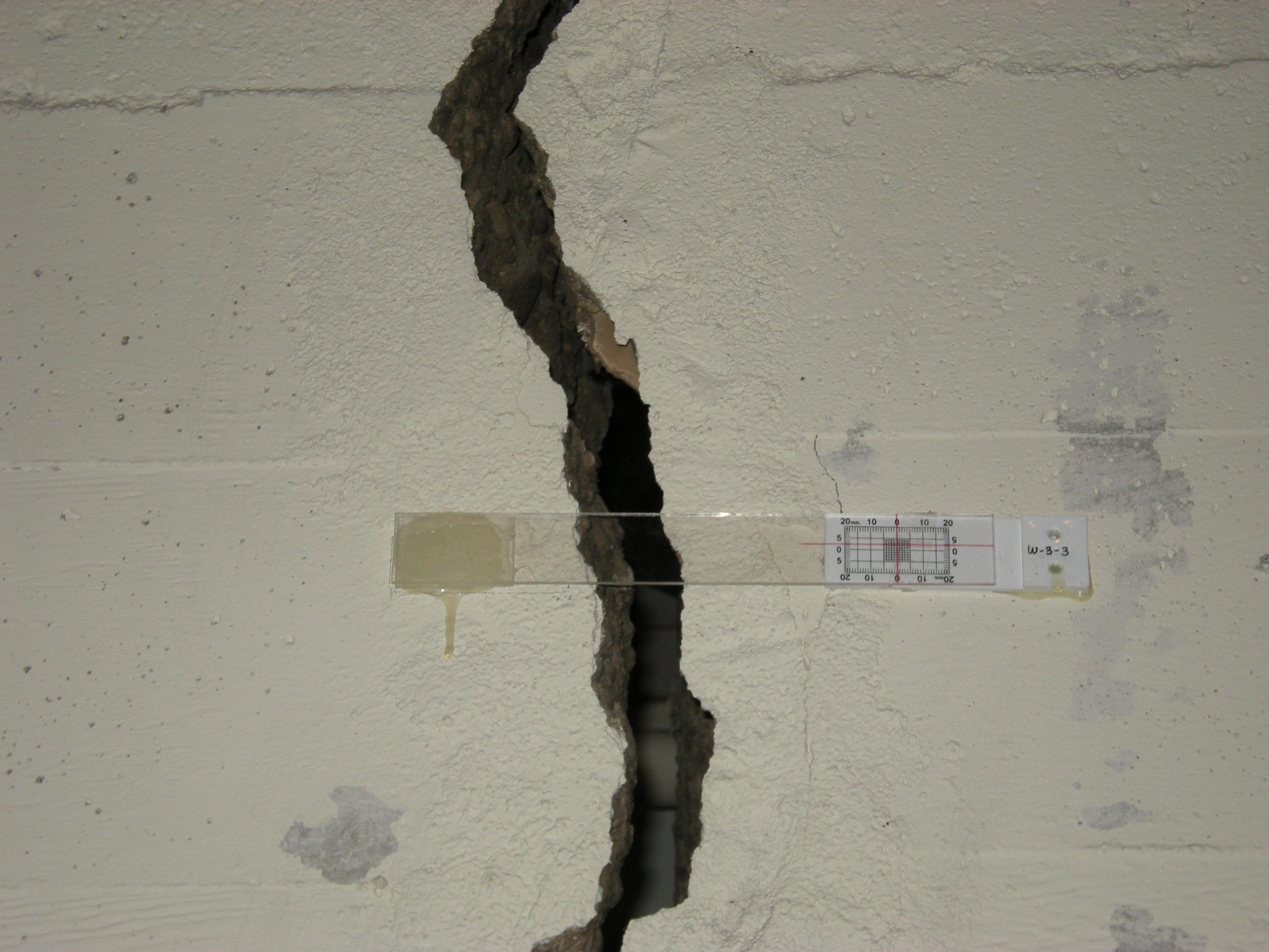 трещина в несущей стене