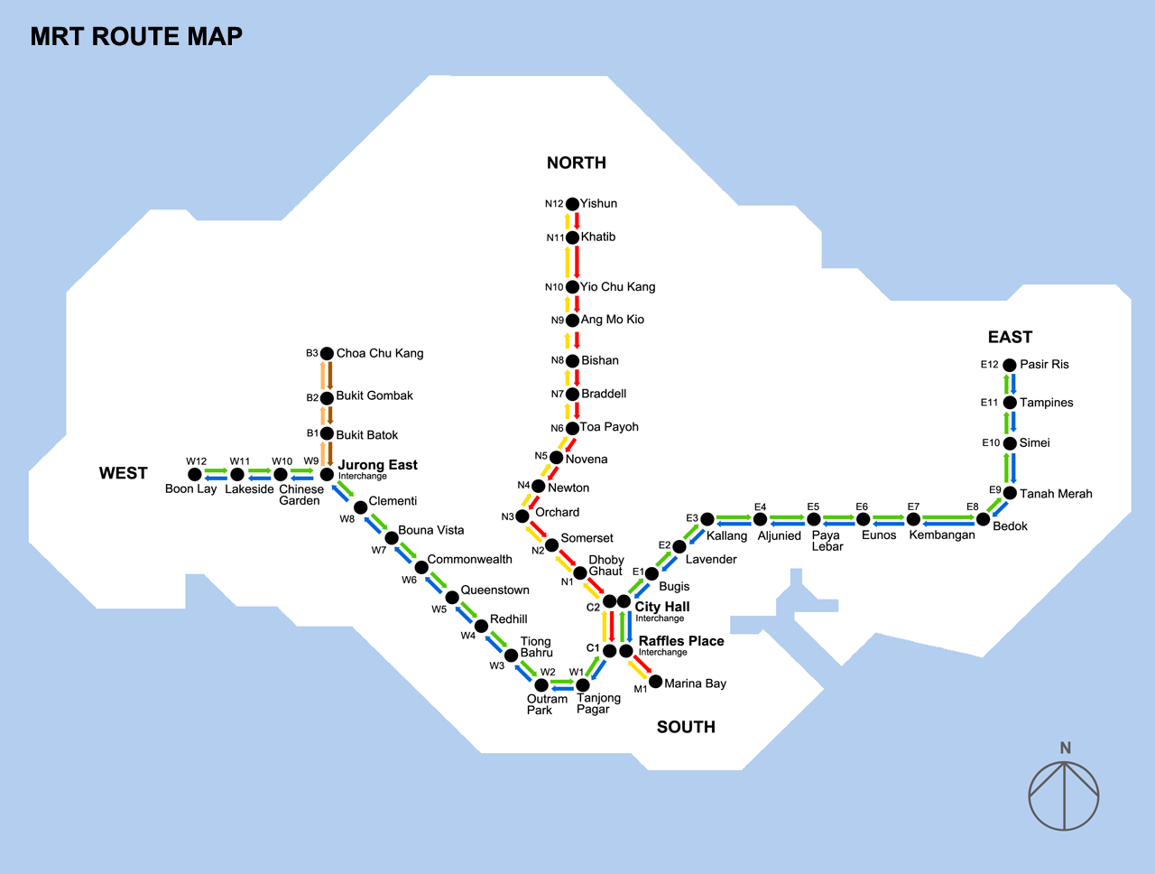 Map of singapore mrt