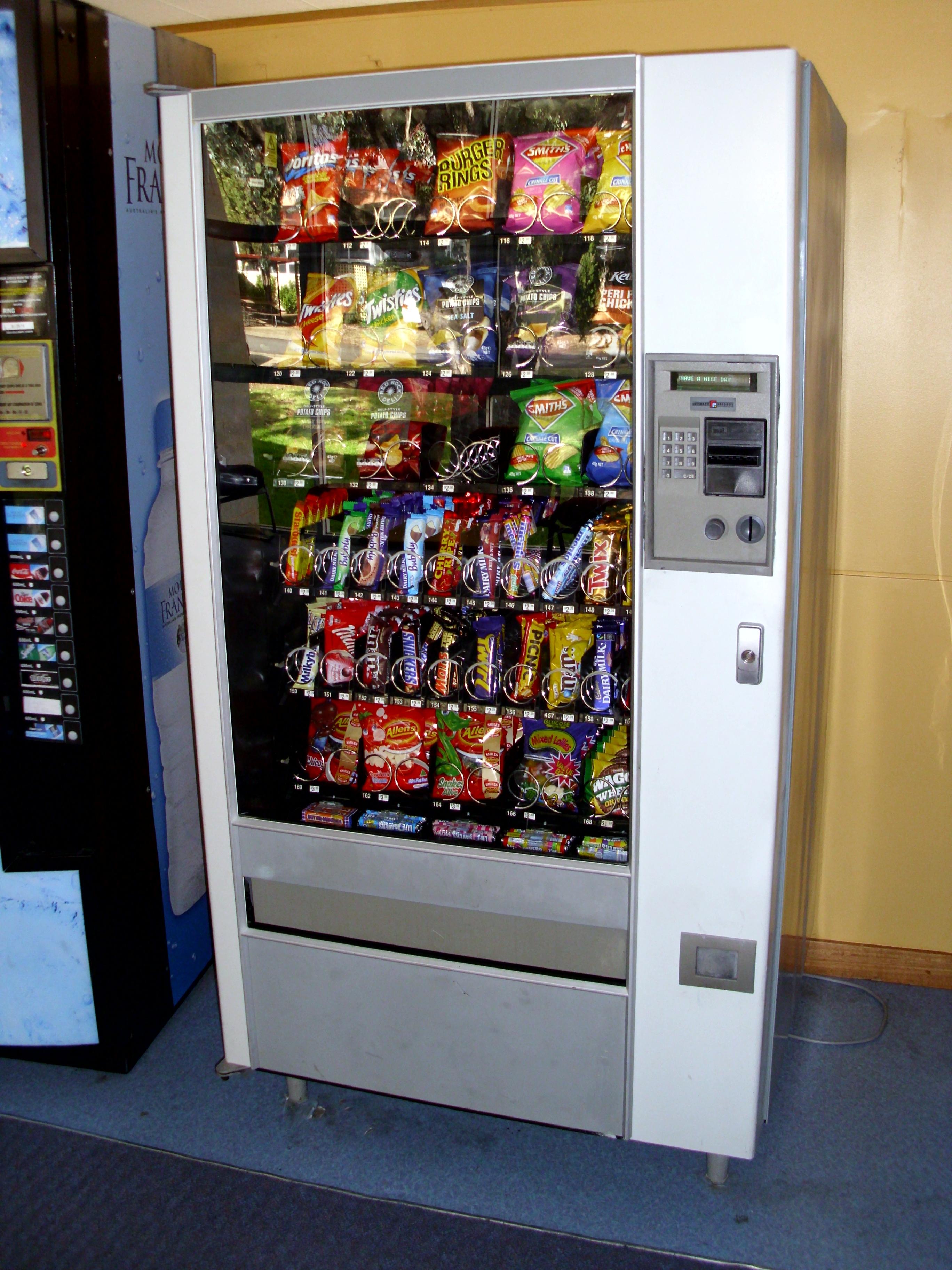 free snacks from vending machine