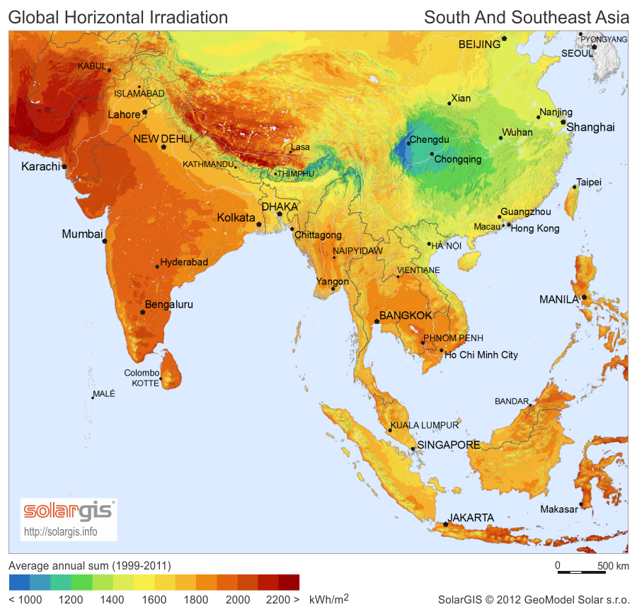 A Map Of East Asia.File Solargis Solar Map South And South East Asia En Png Wikimedia