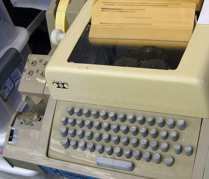 Teletype Model 33 ASR with paper tape punch/reader