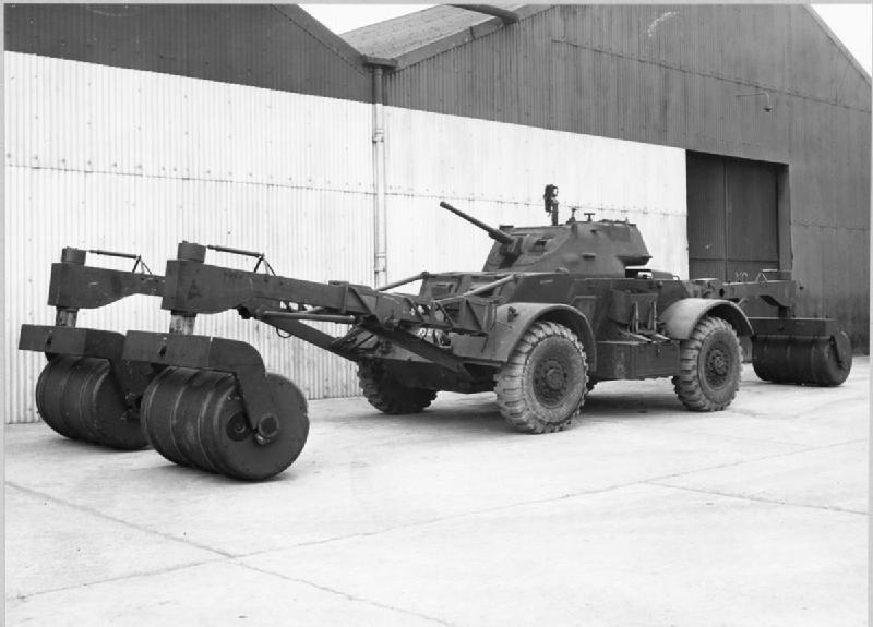 Staghound with Lulu mine detecting equipment