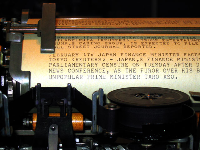 File:Teletype Model 15 printing news report.jpg