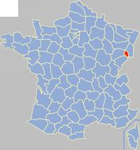 贝尔福地区省在法国的位置