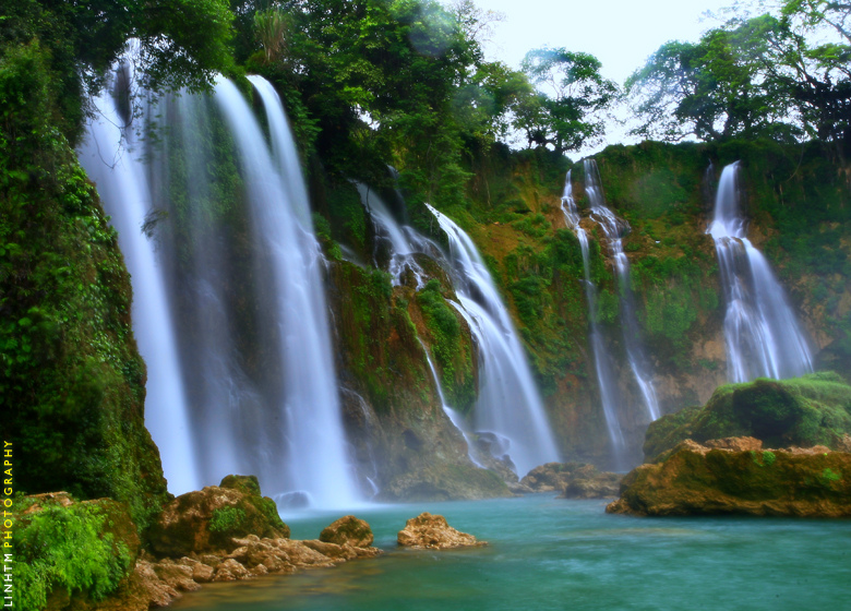 Thac May waterfall in Vietnam