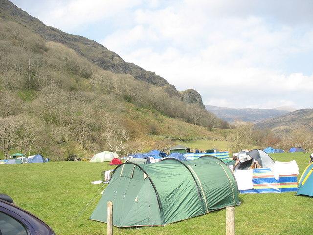 The Llyn Gwynant Campsite - geograph.org.uk - 395030