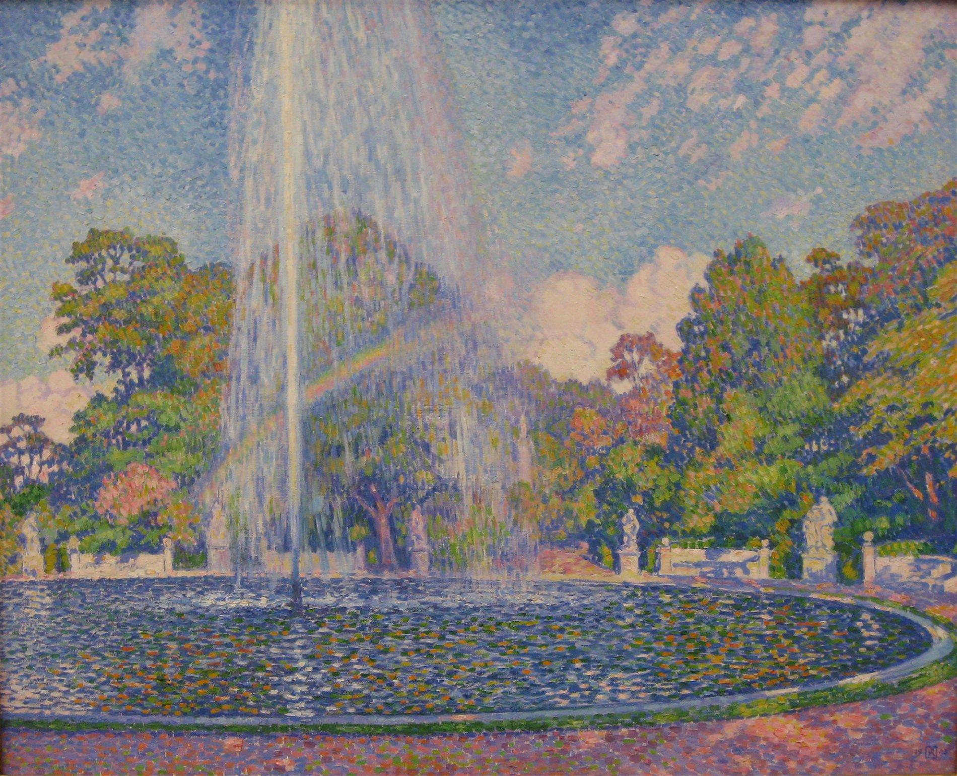 Theo Van Rysselberghe Springbrunnen Im Park Sanssouci In Potsdam Neue Pinakothek Muenchen