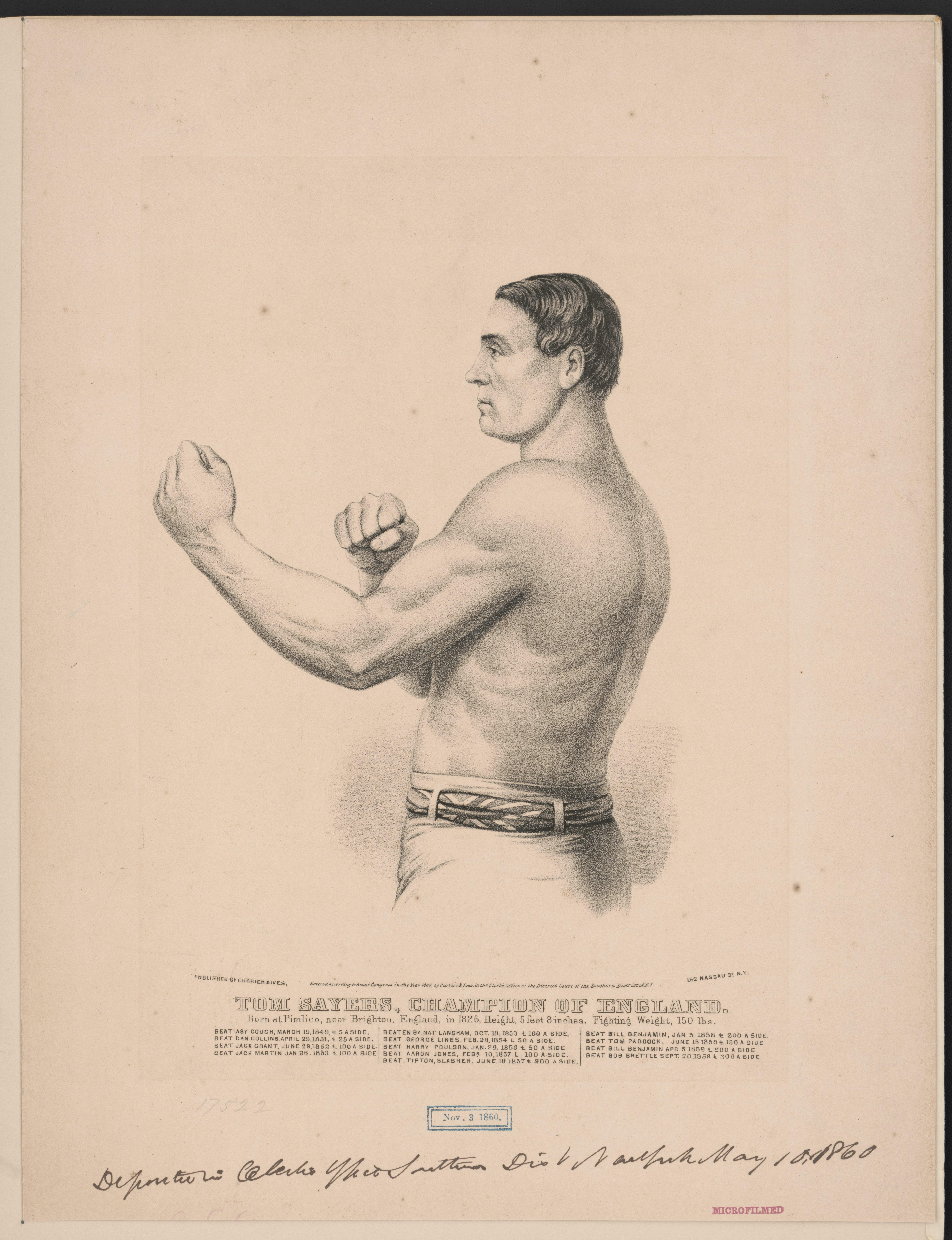 File:Tom Sayers, champion of England- born at Pimlico, near