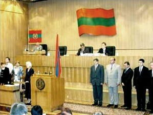 The Parliament (and flag) of Transnistria Transnistria Parliament.jpg