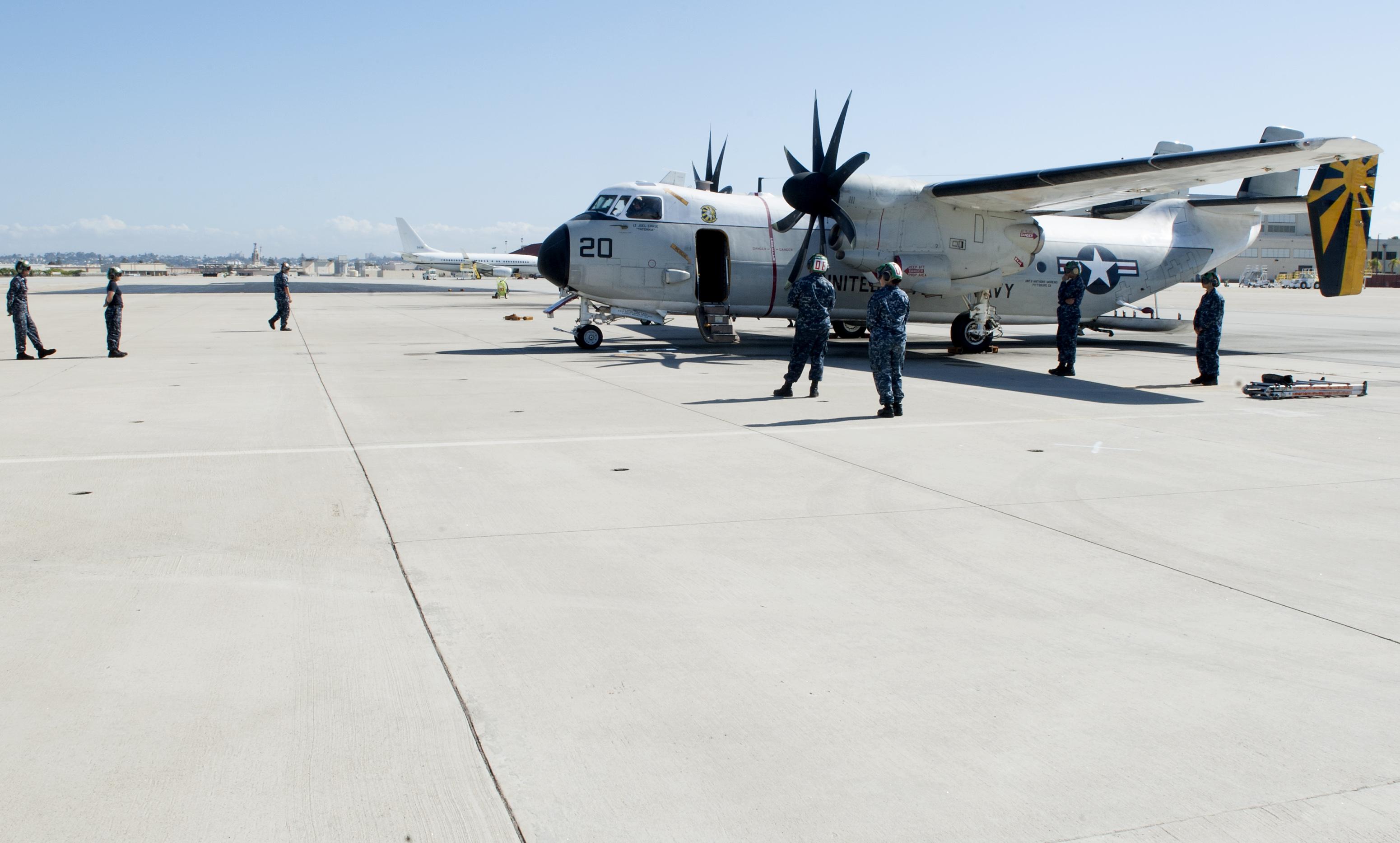 C 2a Greyhound Logistics Aircraft File:U.S. Sailors assi...
