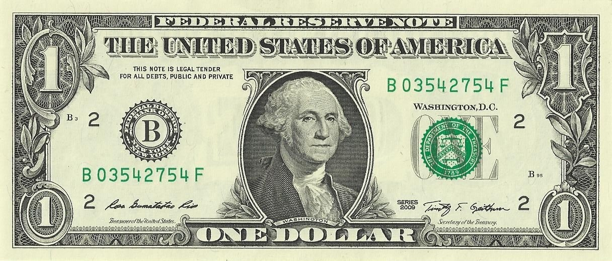 Image result for george washington 1 dollar bill