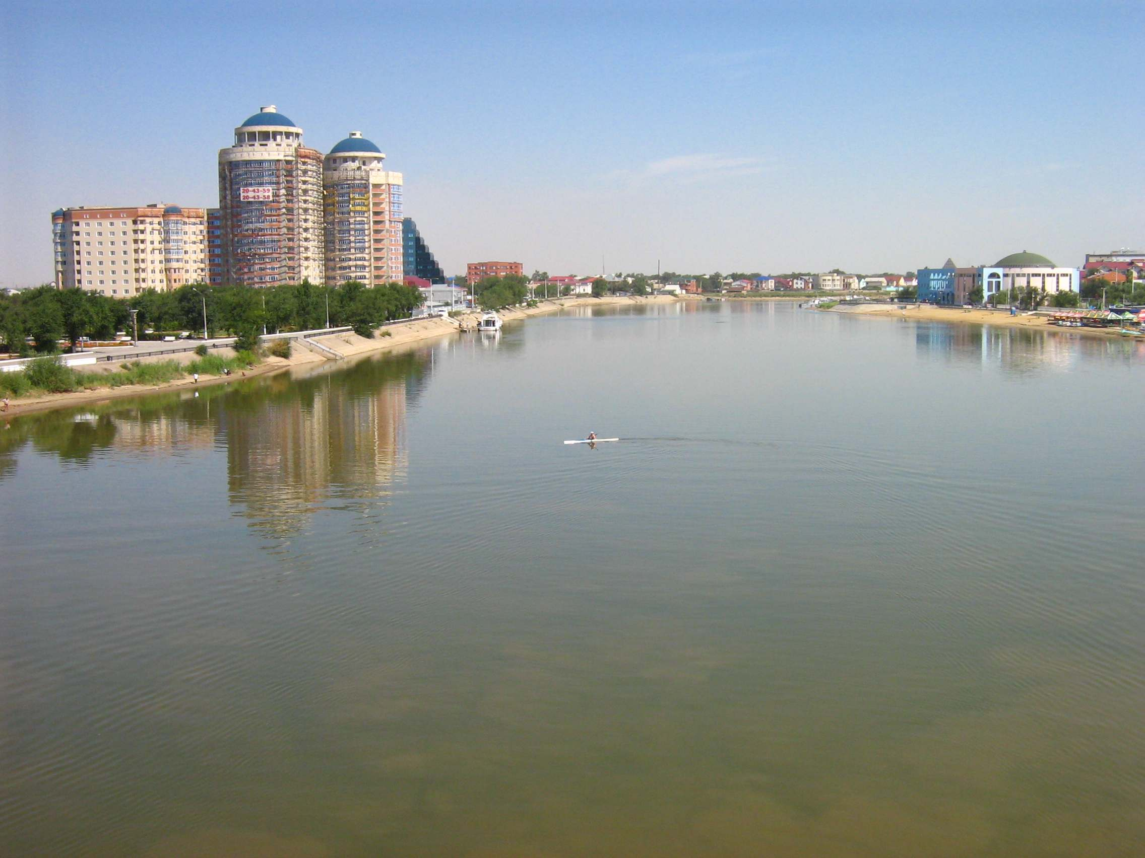 Atyrau Kazakhstan  city pictures gallery : Ural River Atyrau Wikimedia Commons