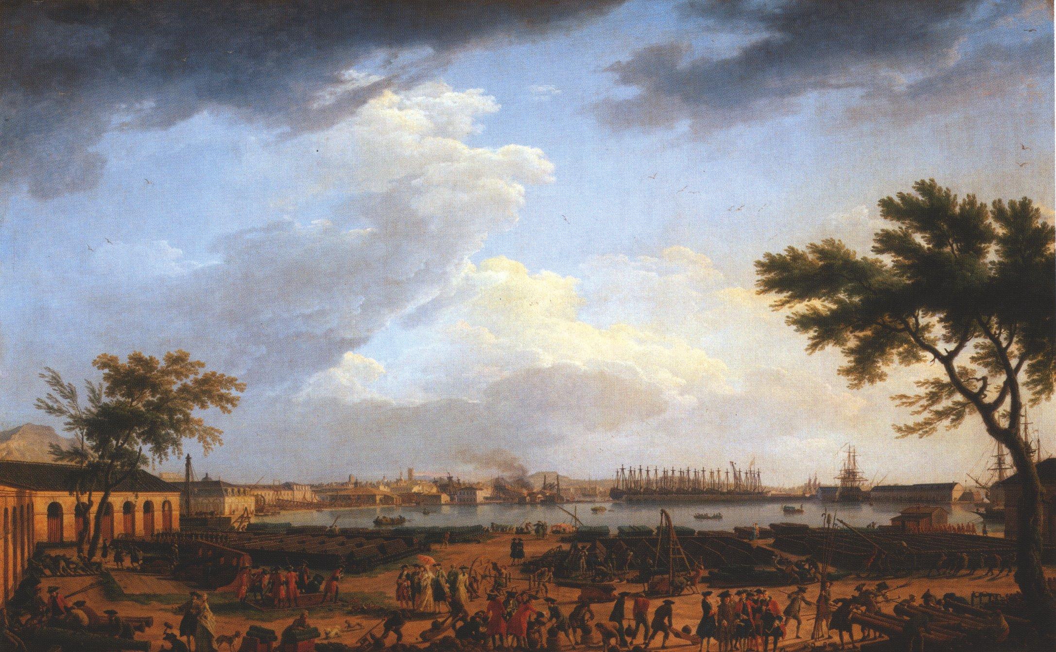 File vernet toulon wikimedia commons - Le port de bordeaux par joseph vernet ...