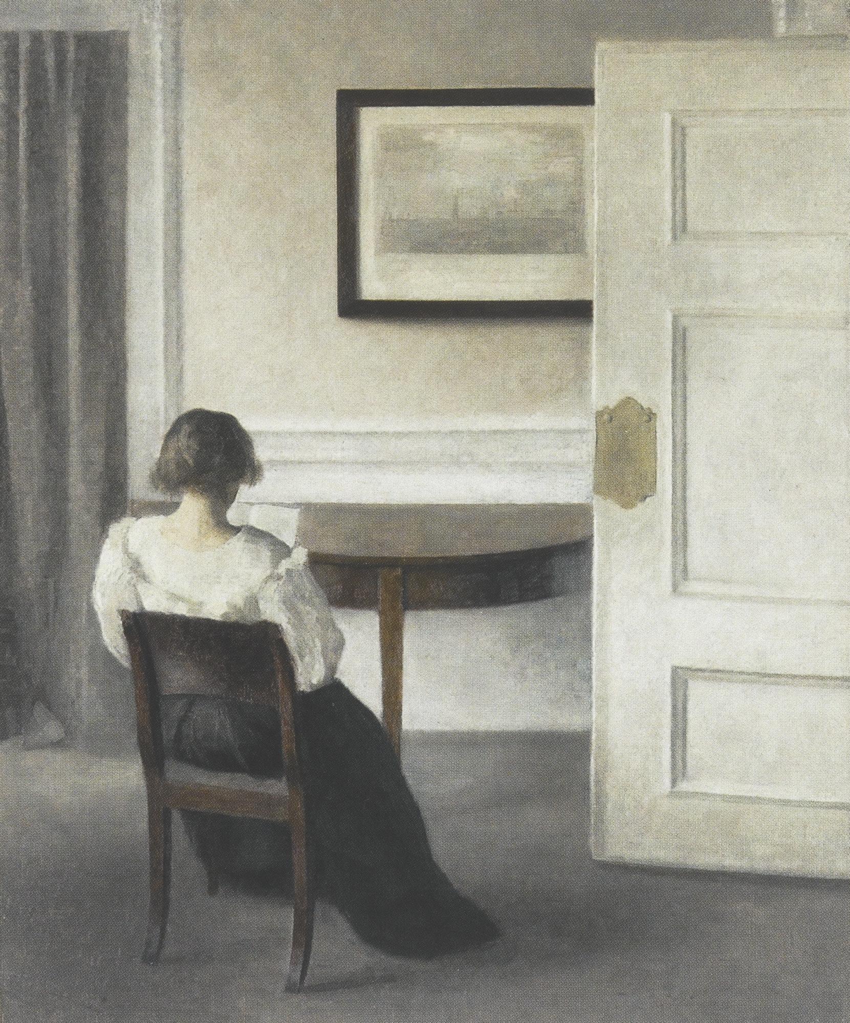 File:Vilhelm Hammershøi - Stue. Ida sidder og læser - 1893.png ...
