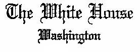 "Logo reading ""The White House Washington"""