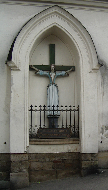 Den hellige Wilgefortis i Wambierzyce i Polen