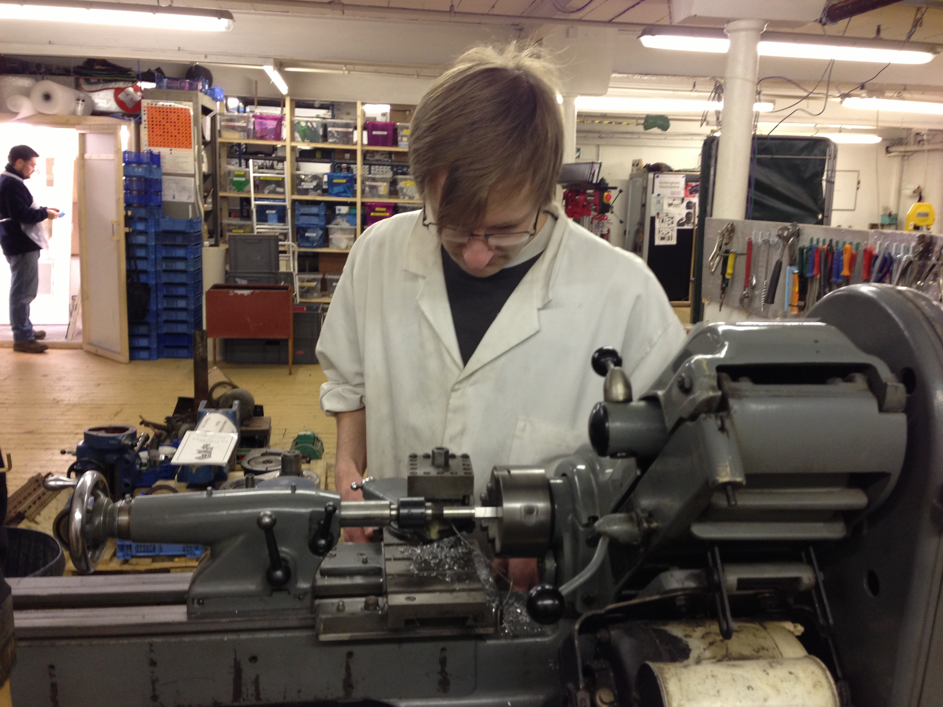 File working on the myford super 7 metal lathe nottingham hackspace