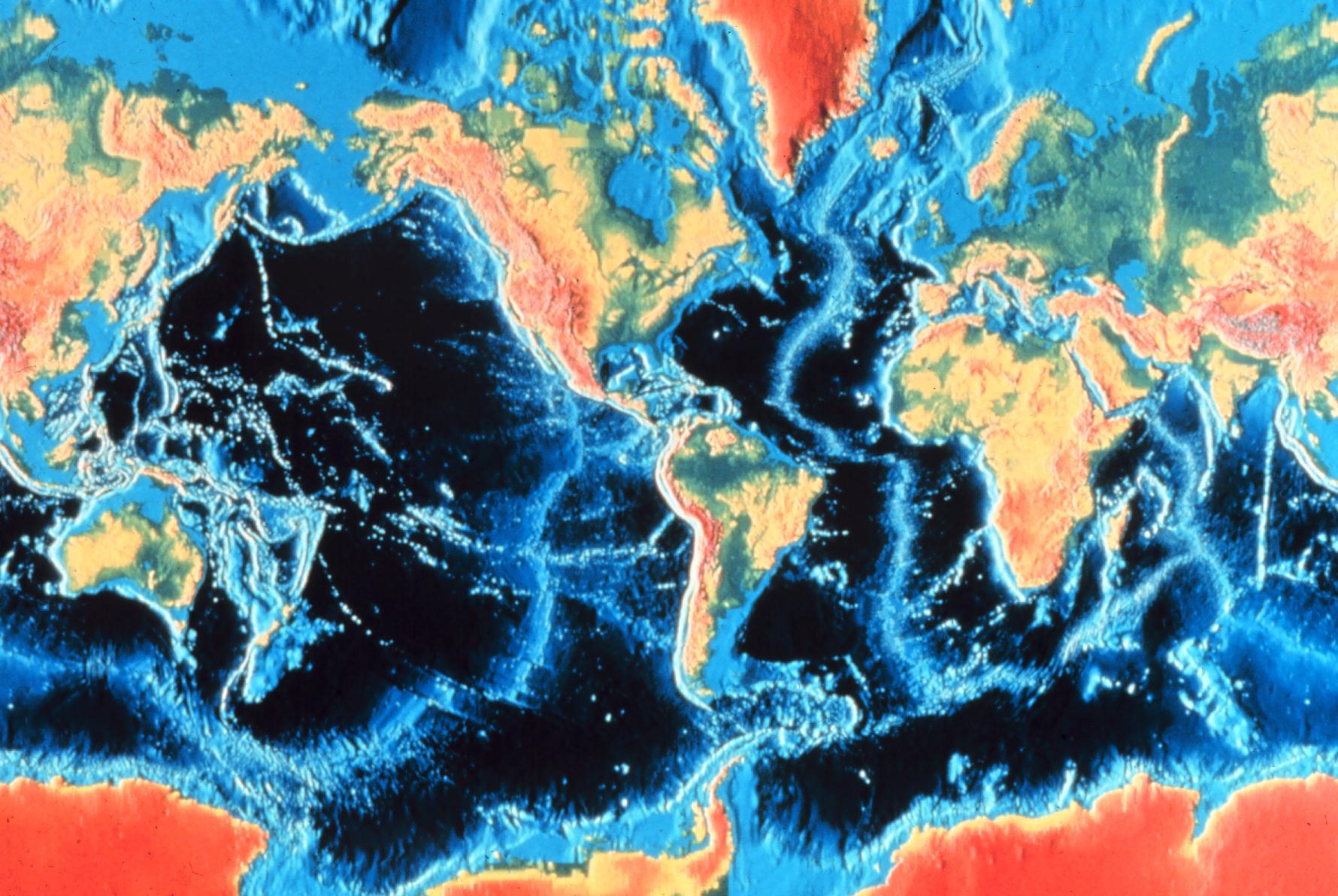 Map of Ocean Depths
