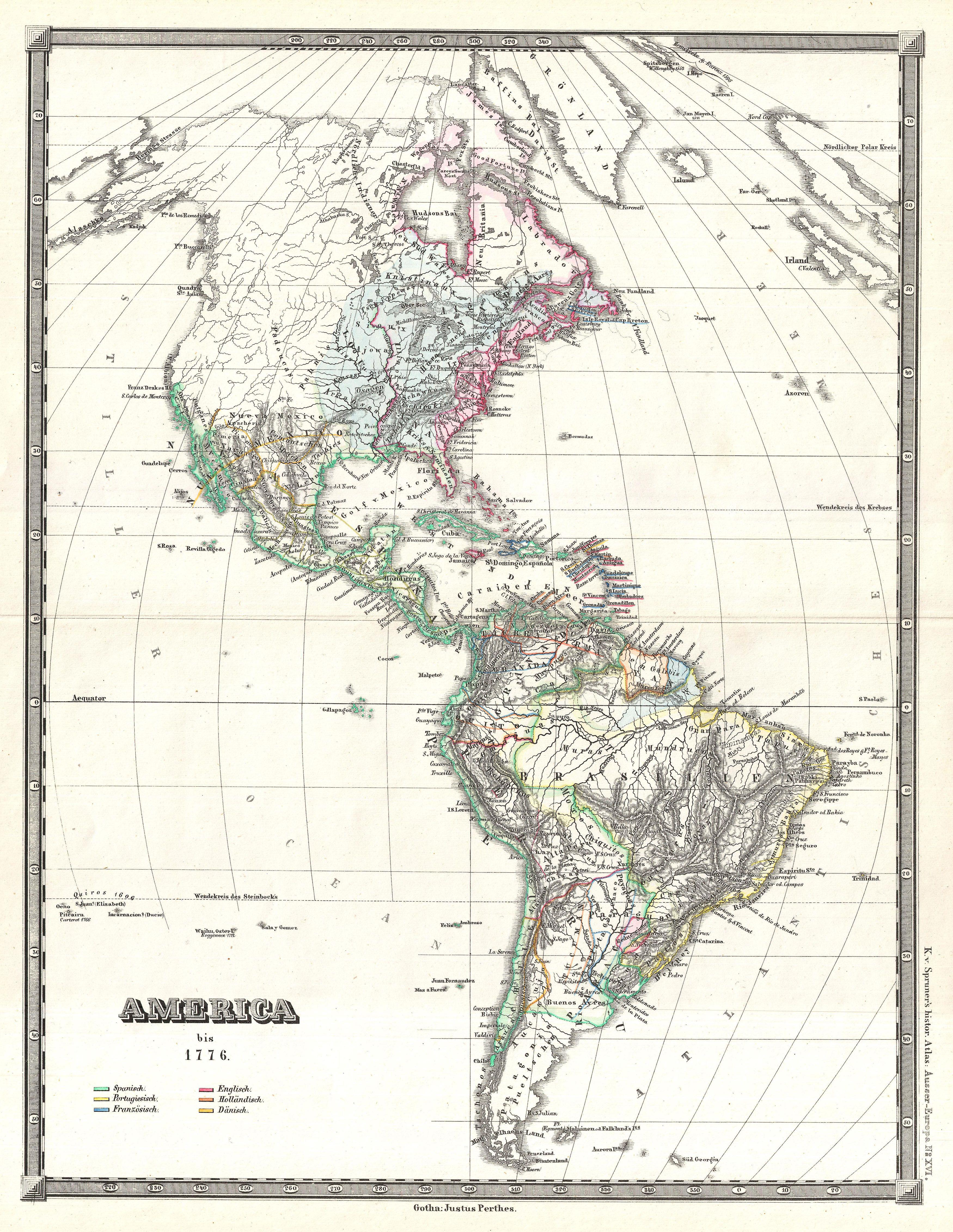 file 1855 spruner map of the americas up to 1776 geographicus