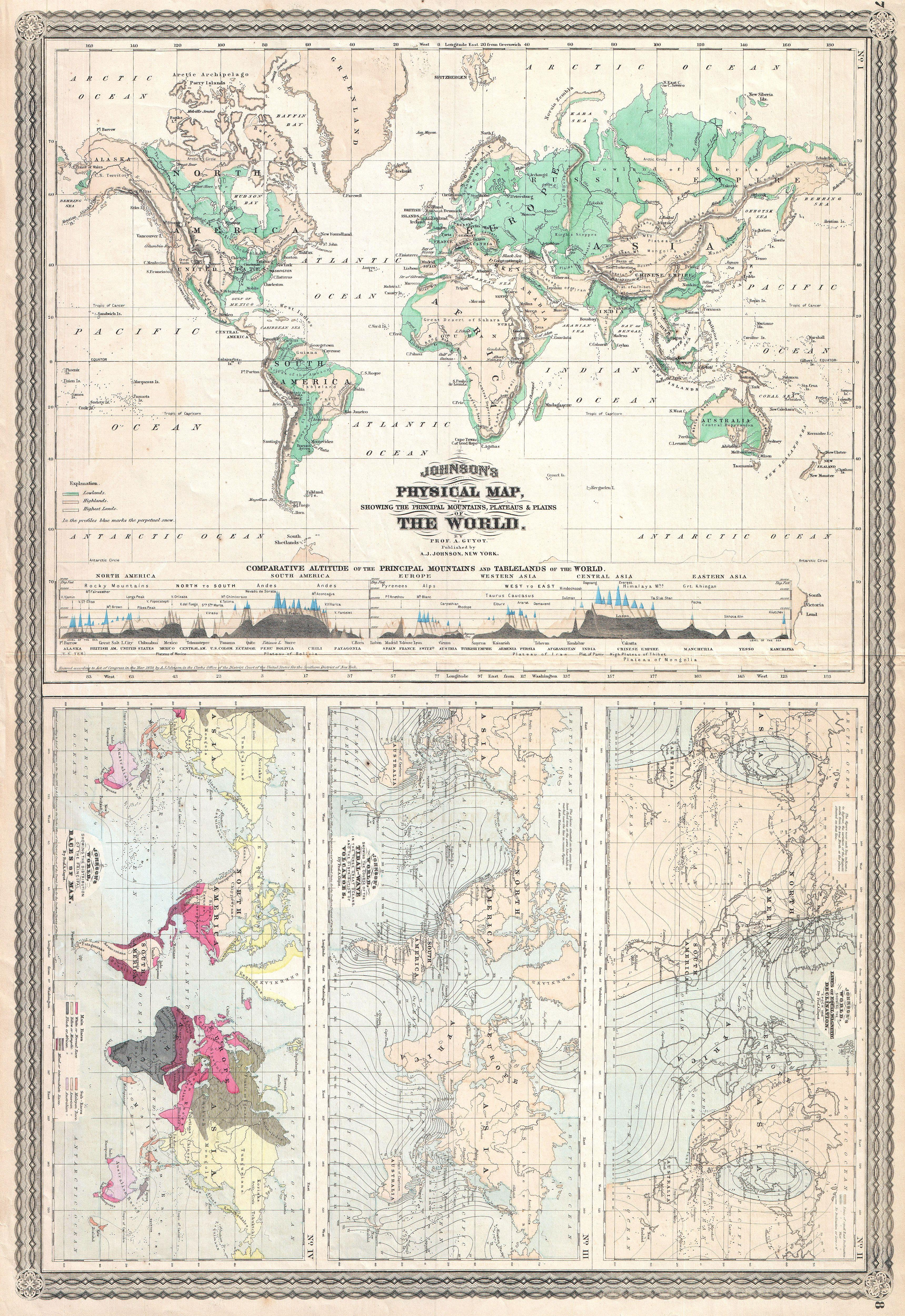 What Is Climate Control >> File:1870 Johnson Climate Map of the World w- Physical Map ...
