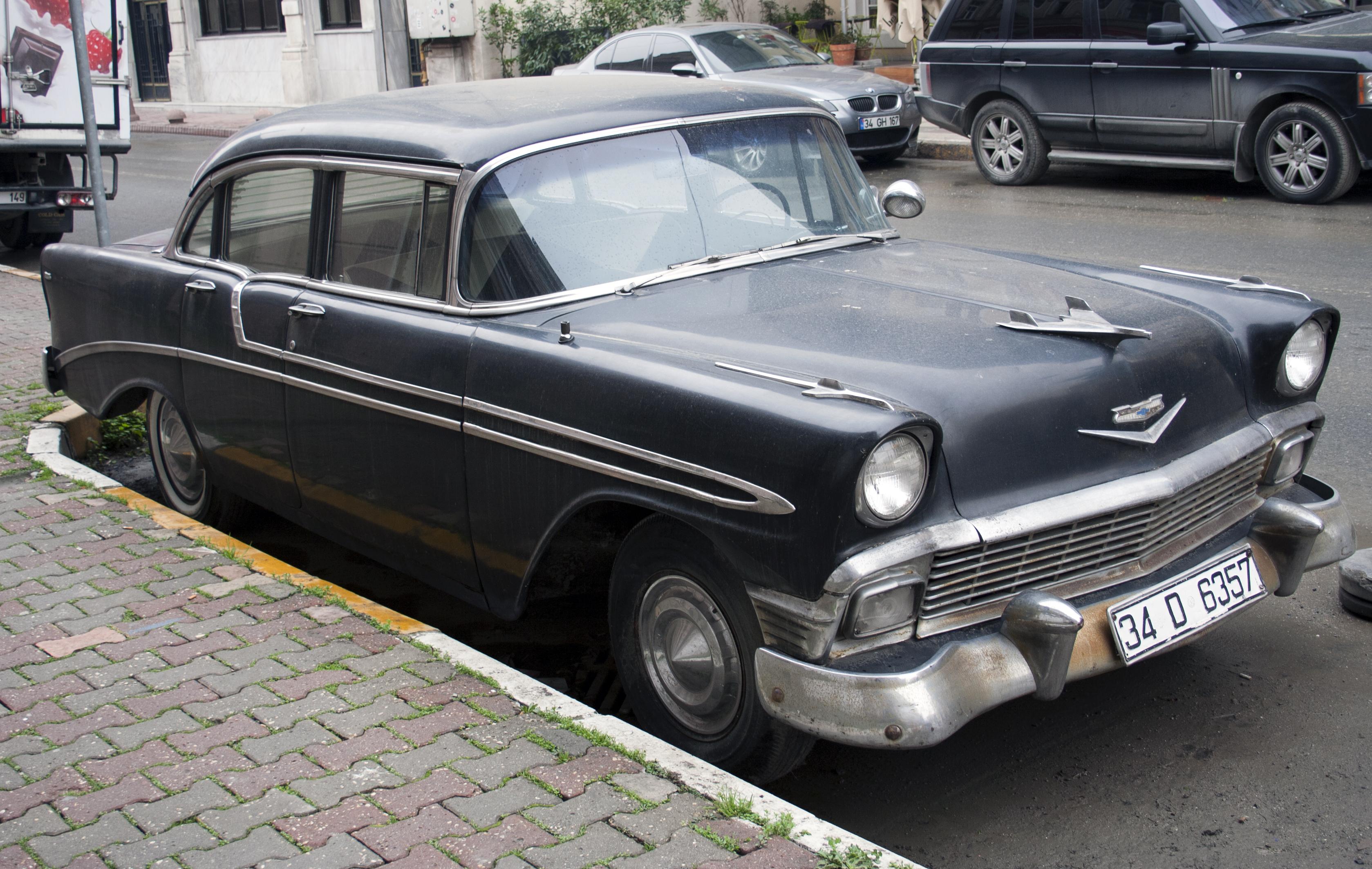File 1956 chevrolet bel air four door for 1956 chevrolet belair 4 door