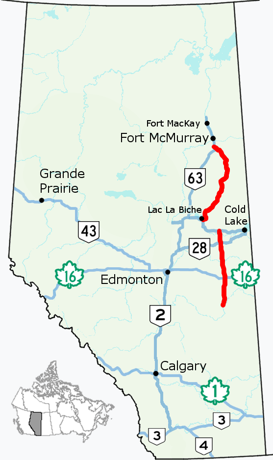 six lakes fort mcmurray map Alberta Highway 881 Wikipedia six lakes fort mcmurray map