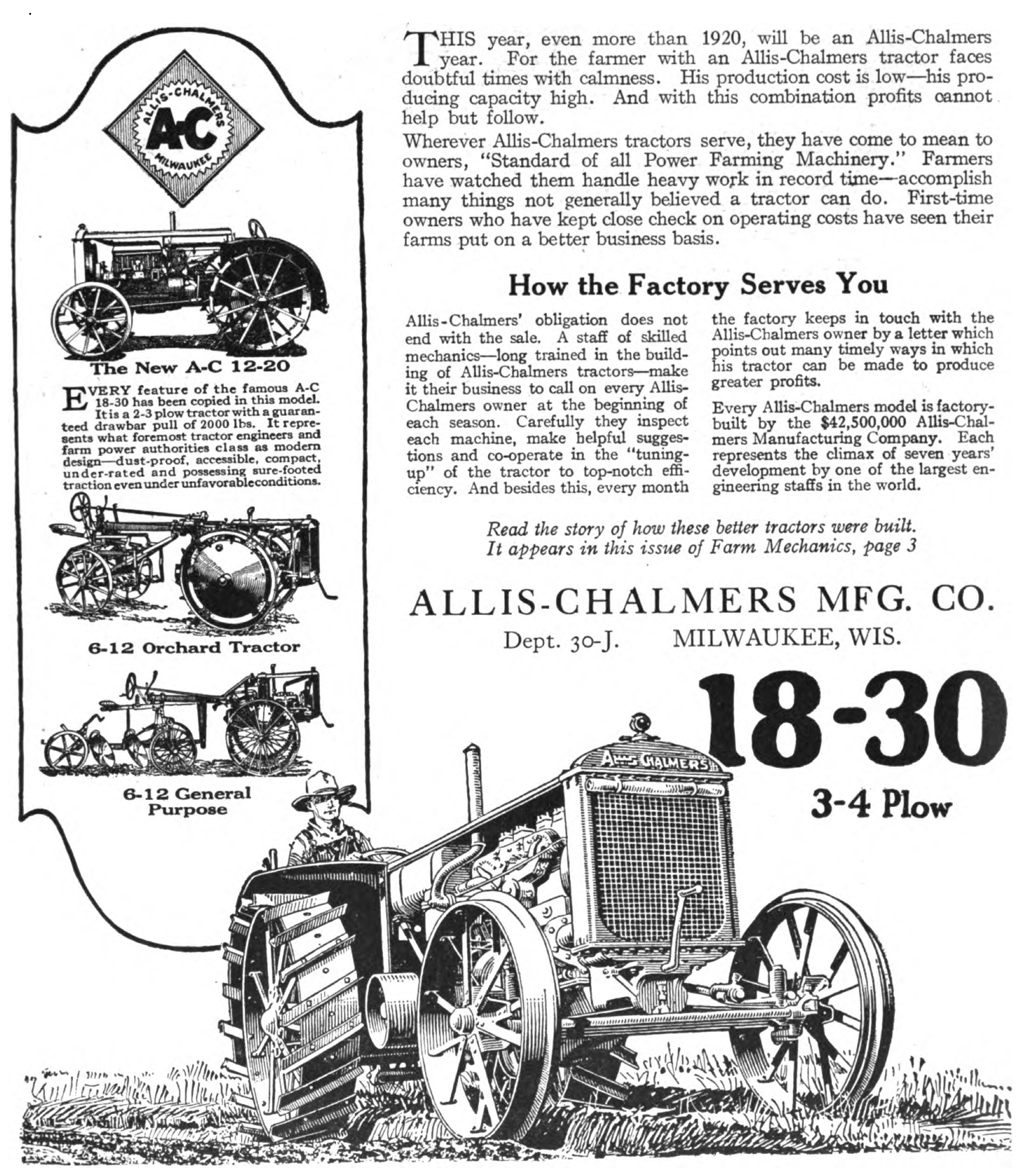 File:Allis-Chalmers tractor advert in Farm Mechanics May 1921 v5 n1 ...