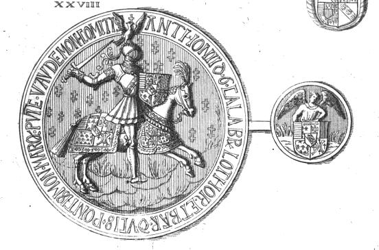 Sceau et contre-scean d'Antoine de Lorraine