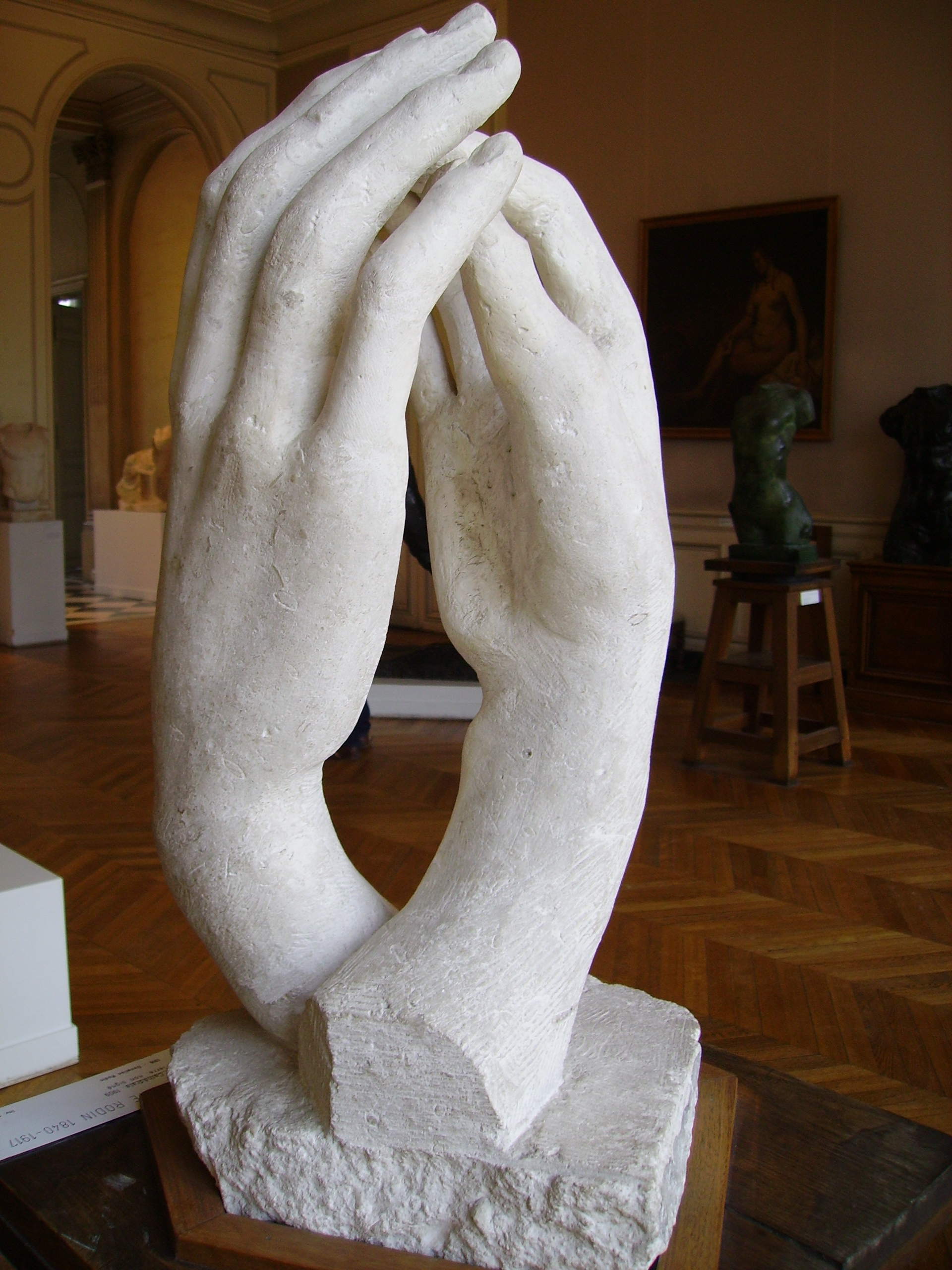 File:Auguste Rodin-The Cathedral-Rodin Museum, Paris.jpg ...