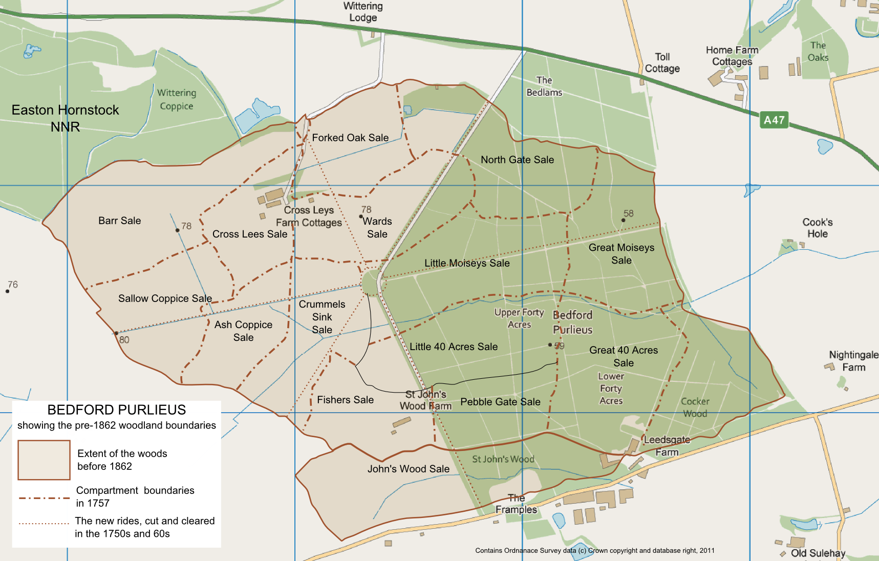 FileBedford Purlieus map showing former woodlandpng Wikimedia