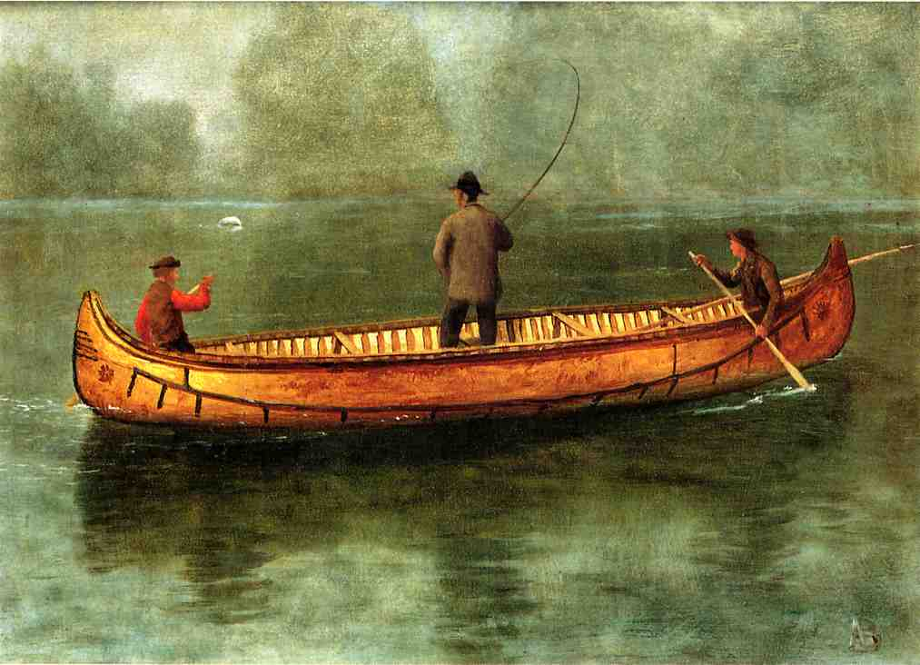 File bierstadt albert fishing from a wikipedia for Fishing from a canoe