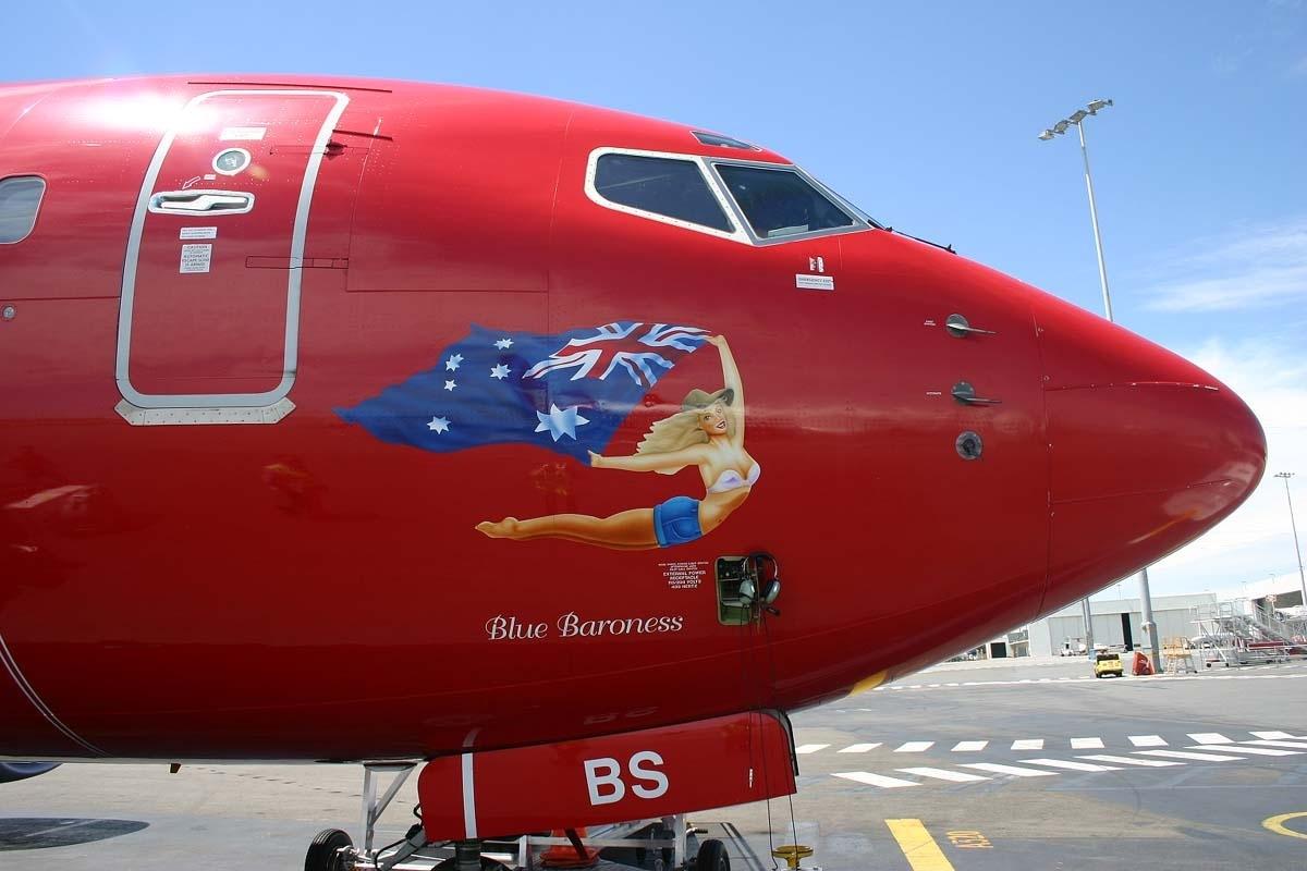 australia airlines blue virgin