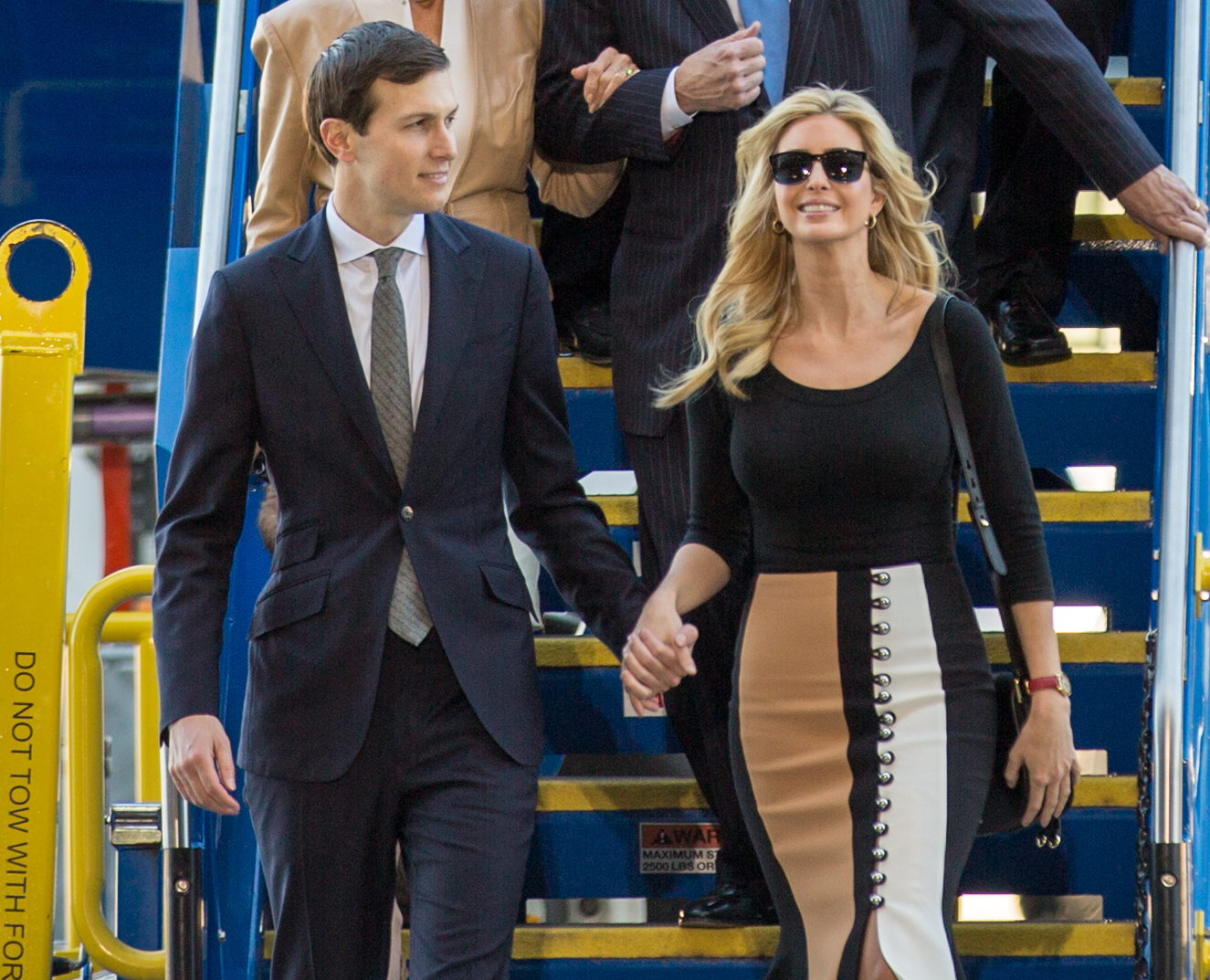 Kushner and Trump at an event in North Charleston, South Carolina, February  2017