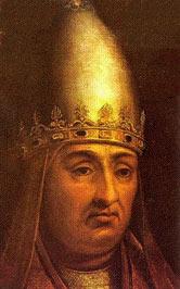 Depiction of Bonifacio VIII