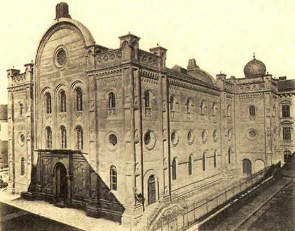 Brno, Velká synagoga ve Spálené (cca 1900).jpg