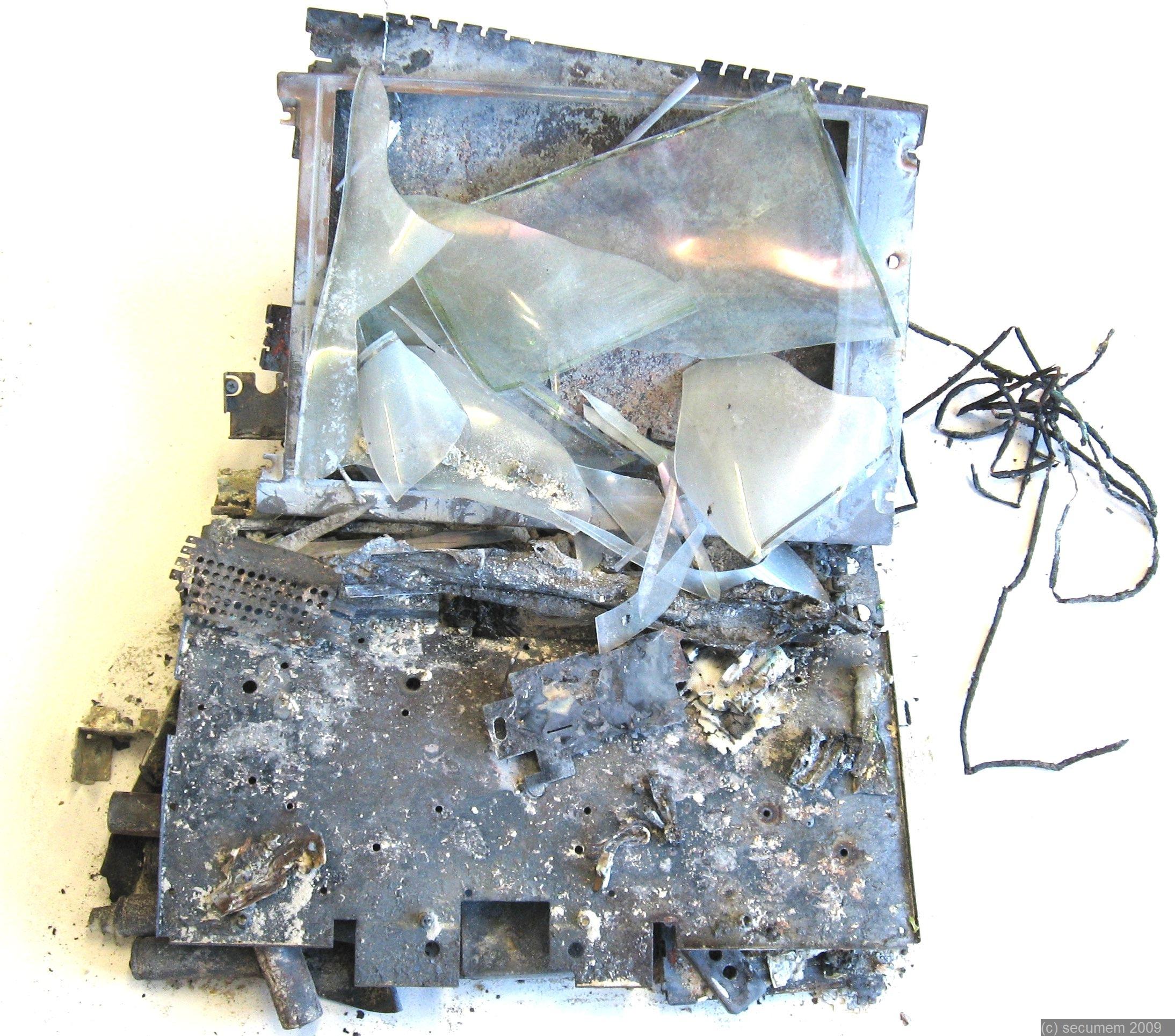 Verbrannter Laptop