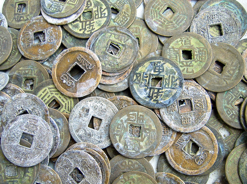 Chinese-bronze-coins