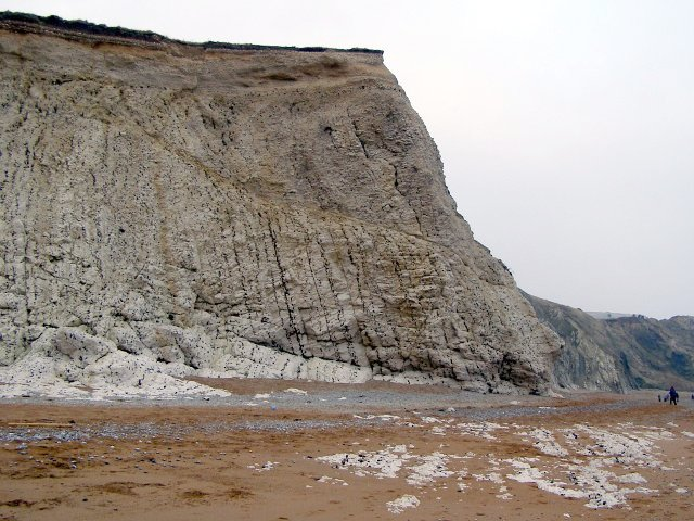 Cliff at the eastern extreme of the Scratchy Bottom embayment, Durdle Cove - geograph.org.uk - 299715