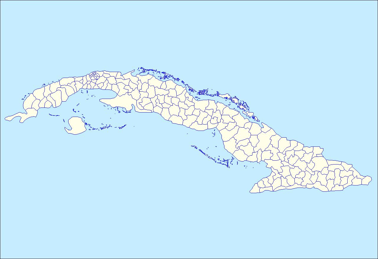 Depiction of Municipios de Cuba