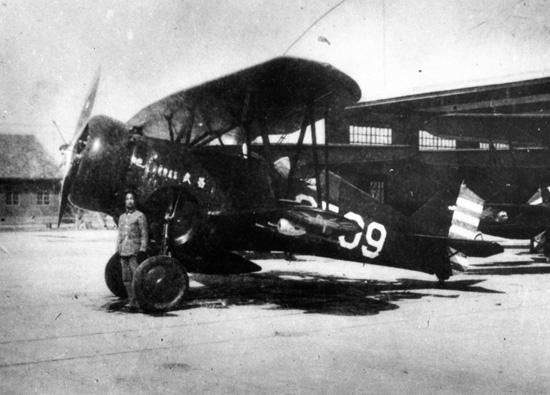 抗戰初期中國空軍的霍克三雙翼戰鬥機