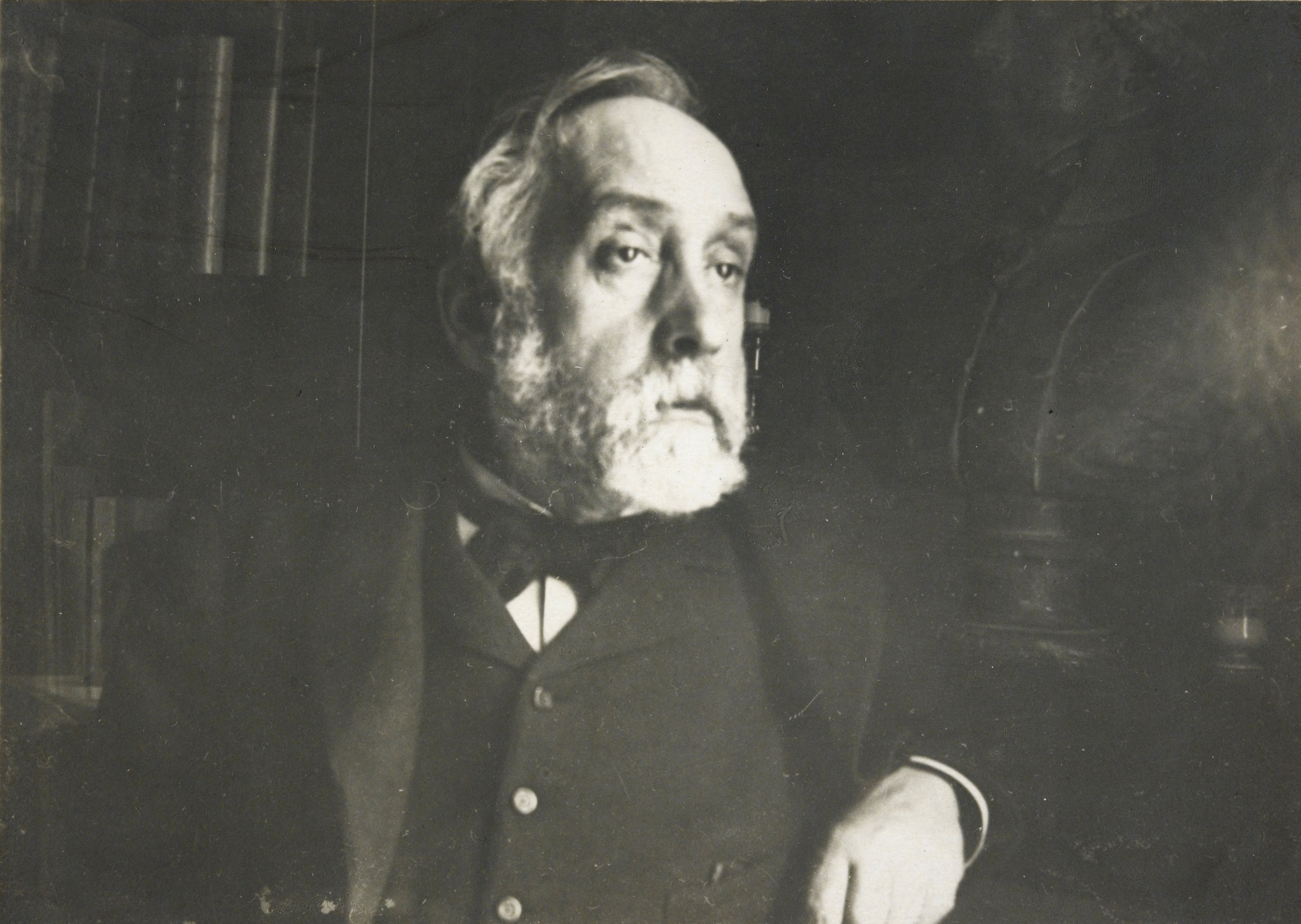 Degas self portrait, black and white image of the famous artist