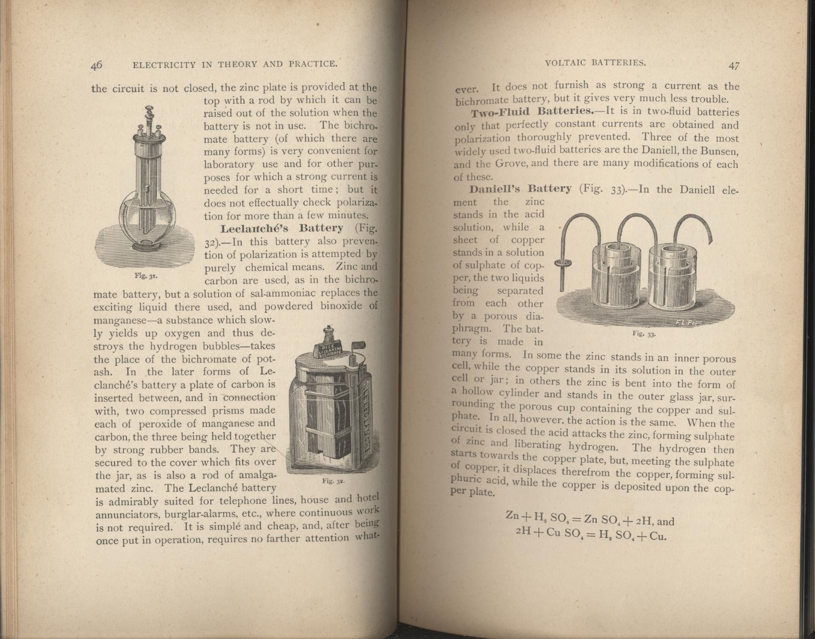 Electricidad en teoría y práctica (Bradley A. Fiske, 1884)
