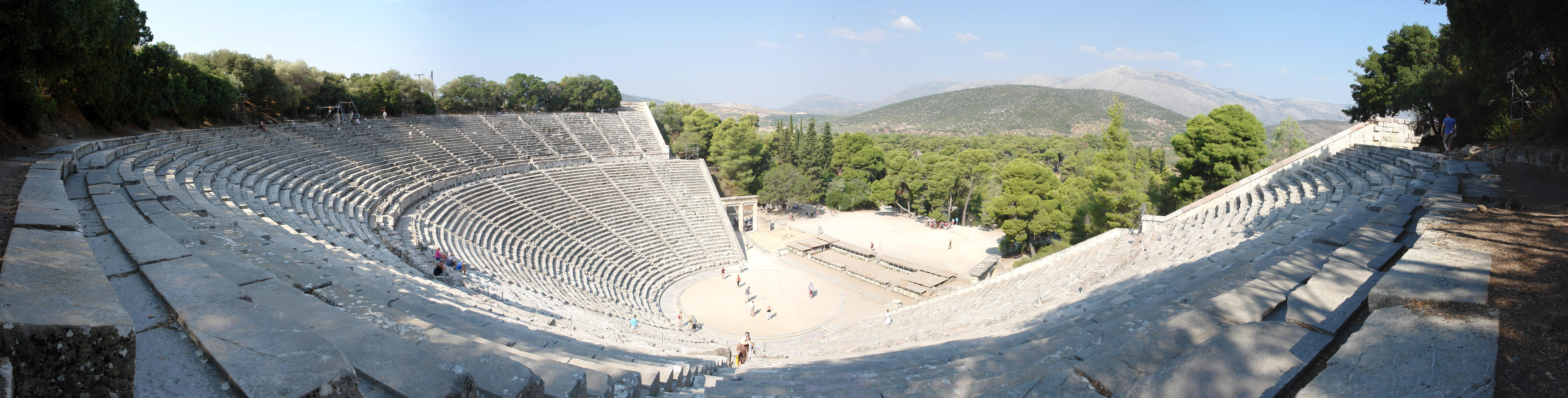 Θέατρο Επιδαύρου (πανοραμική σε πολύ υψηλή ανάλυση!), 2008-09-11