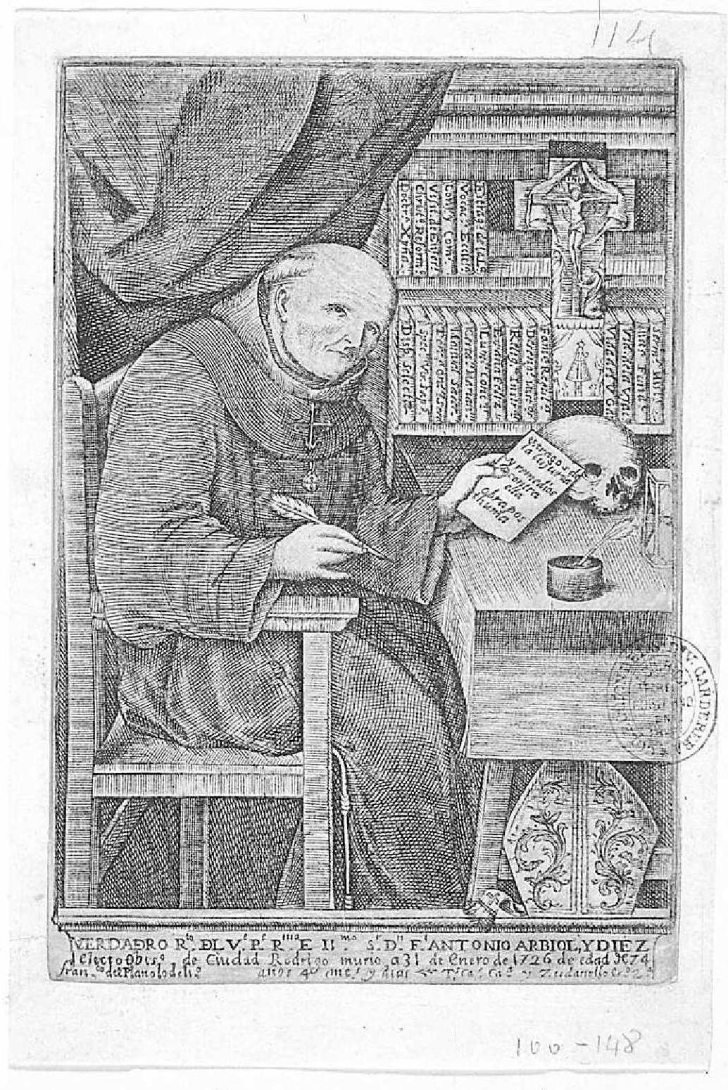 LA FAMILIA REGULADA - R.P. Fr Antonio Arbiol (1715) Francisco_zudanel-Retrato_de_Antonio_Arbiol